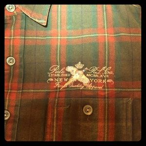 Classic Ralph Lauren button down hunting flannel m